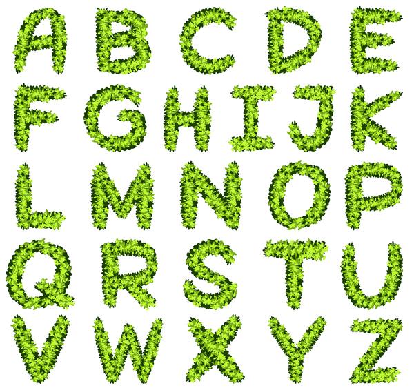 verde Pianta creative Alfabeto