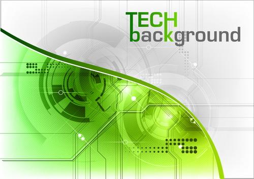tech green Abstrakt