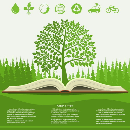 träd infographic grön eco boka