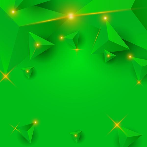 triangel stjärnor ljus grön
