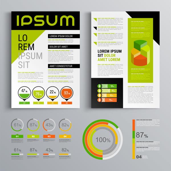 Schwarz grün cover business Broschüre