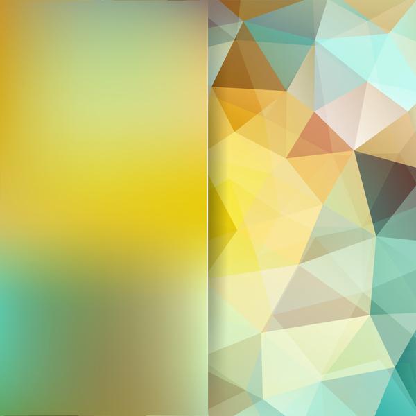 polygon gul grön