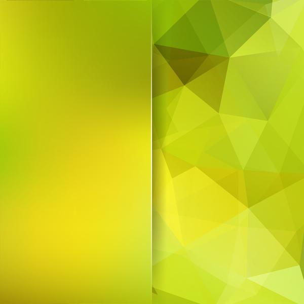 、黄色い緑、多角形