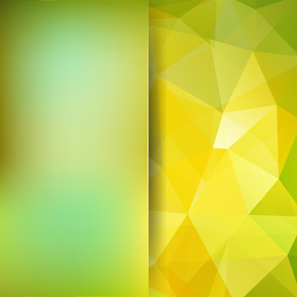yellow polygon green