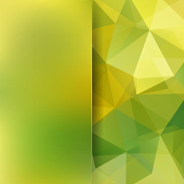 polygon grün gelb