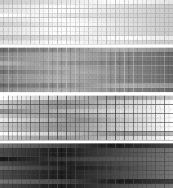 gris géométrique des bannières