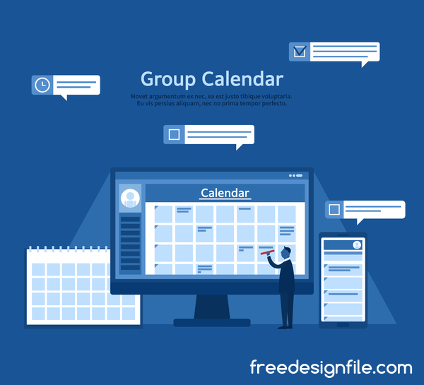 groupe Entreprise calendrier