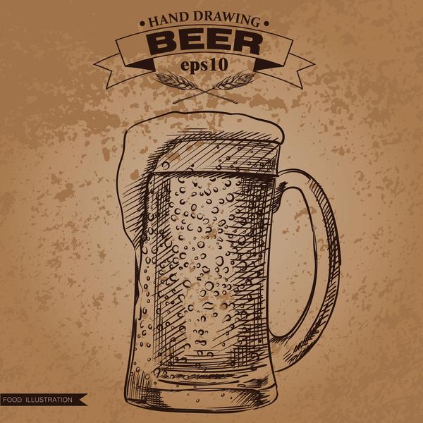 hand grunge Bier