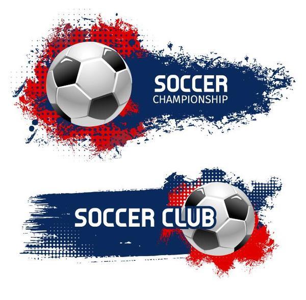 Grunge della bandiera Calcio