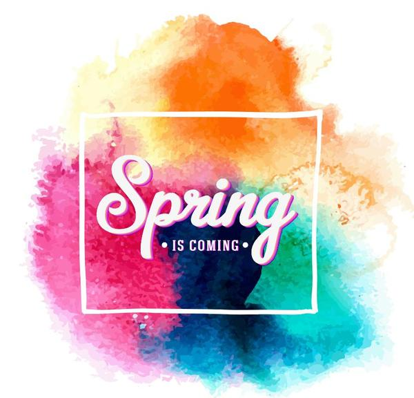 printemps grunge Aquarelle