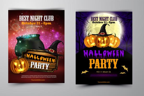 halloween flyer copertina brochure