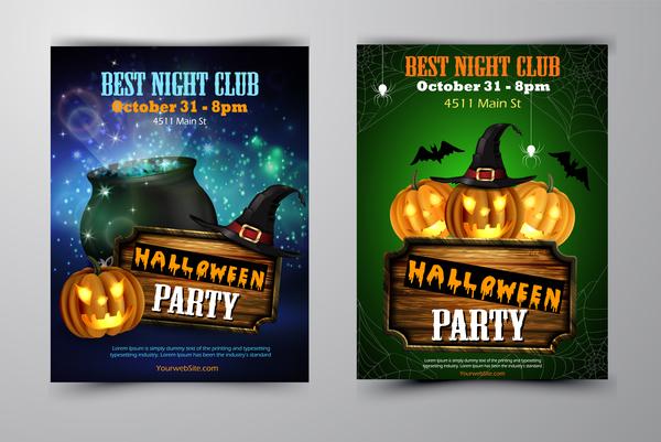 halloween flyer cover Broschüre