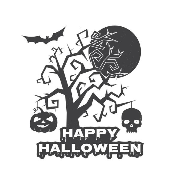 träd skalle halloween
