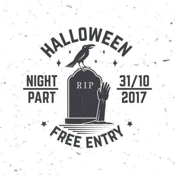 Partito halloween etichette corvo