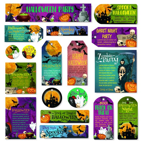 tags halloween carte Bannière
