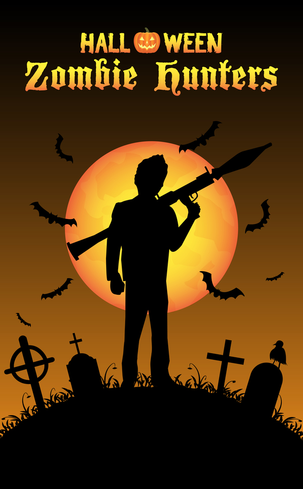 zombie poster les chasseurs halloween