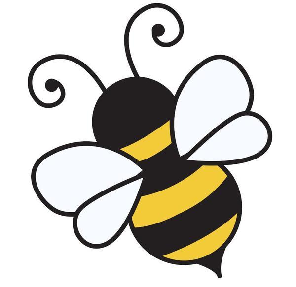 Dessinés à la main dessin animé abeille