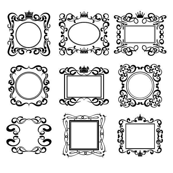 Retro-Schriftart Rahmen hand gezeichnet Dekor