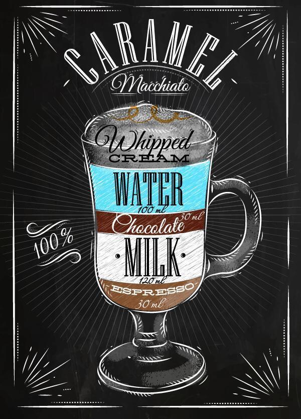 poster mano disegnato bere