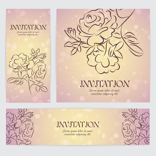 Karte hand gezeichnet Blume banner