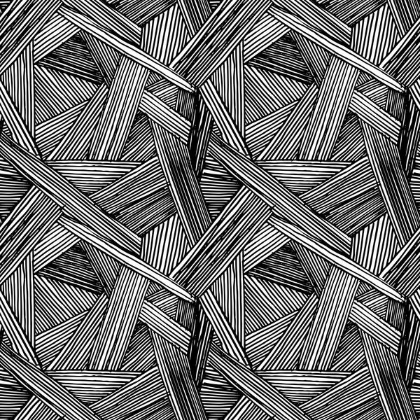 weiß Schwarz nahtlose Muster Linien hand gezeichnet