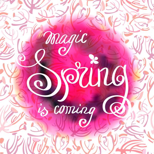 printemps motif Dessinés à la main