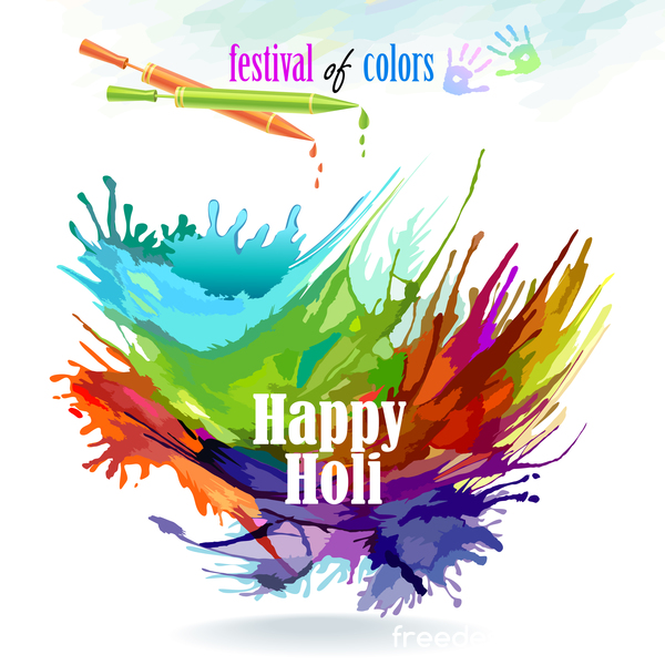 happy holi festival Farbe