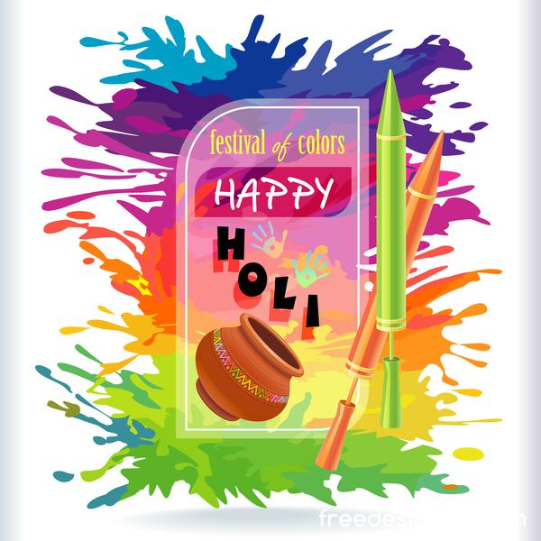 happy holi festival Couleur