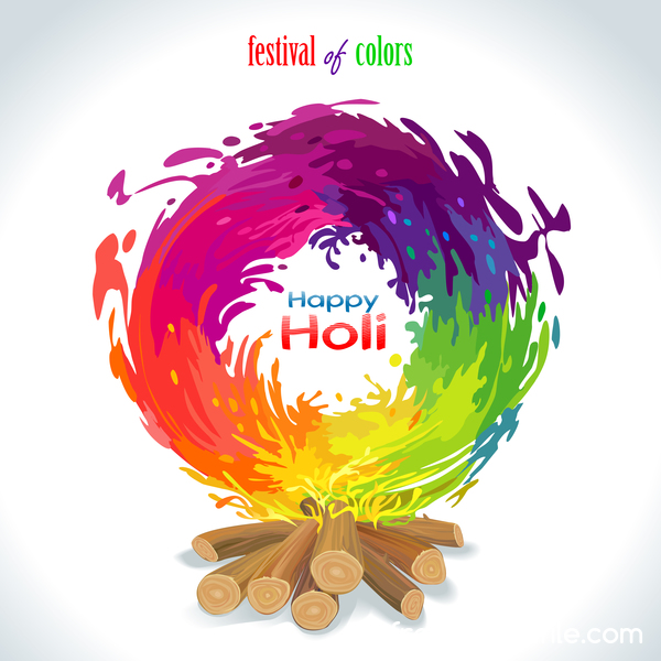 happy holi festival Couleur