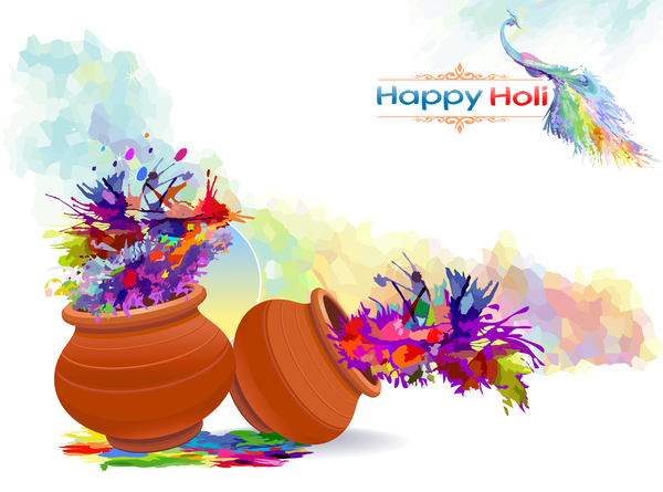 happy holi festival colore
