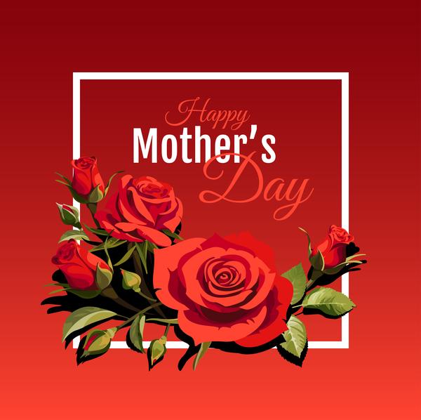 rosso giorno festa della mamma felice carta