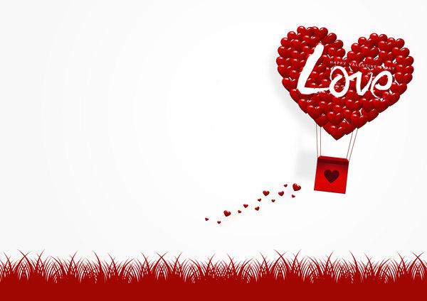 Valentinstag tag origami Karte happy Gruß