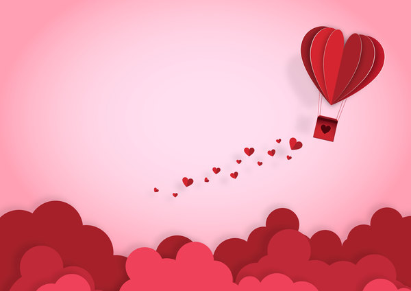 San Valentino origami happy greeting giorno carta