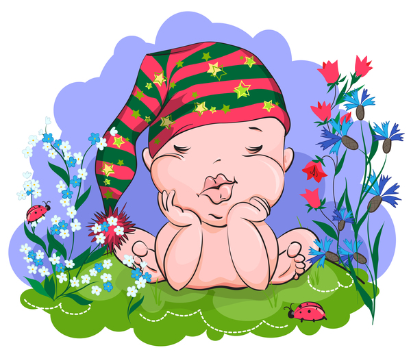 süß schlafen happy baby
