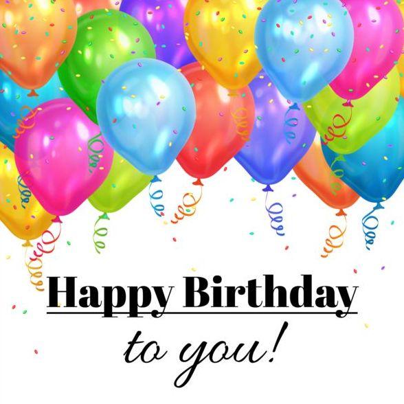 palloncino happy colorate birthday