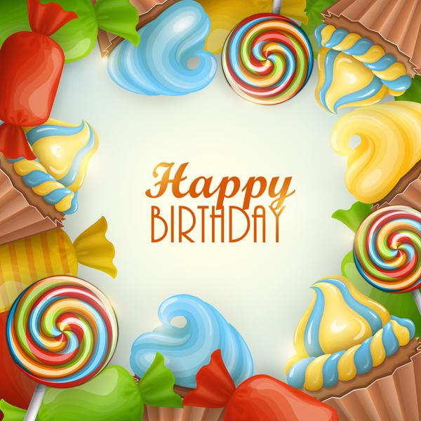 Süßigkeiten happy Geburtstag