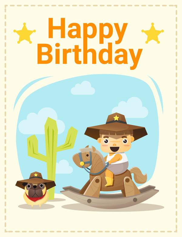 誕生日 少年 少しの幸せ、 友人 カード
