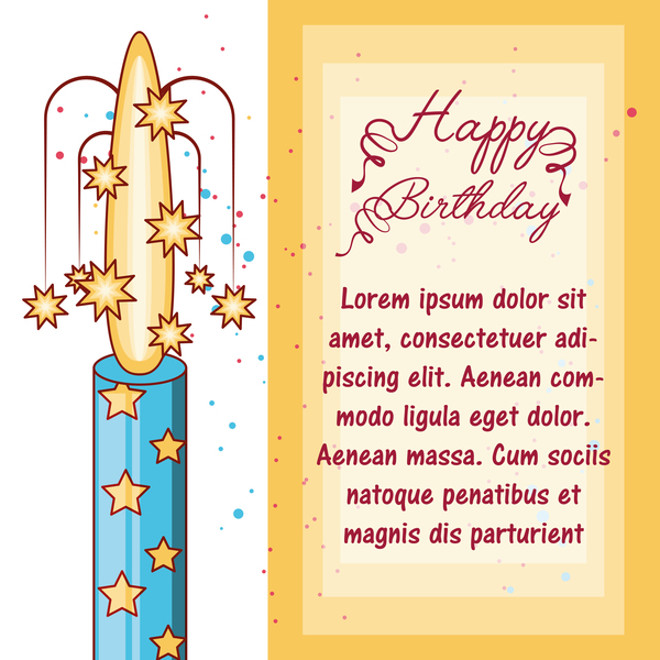 saluto felice Compleanno carta