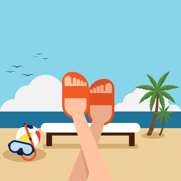 Strand sommar semester happy