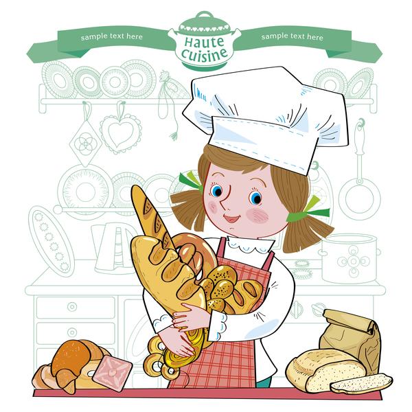 Mädchen Küche haute