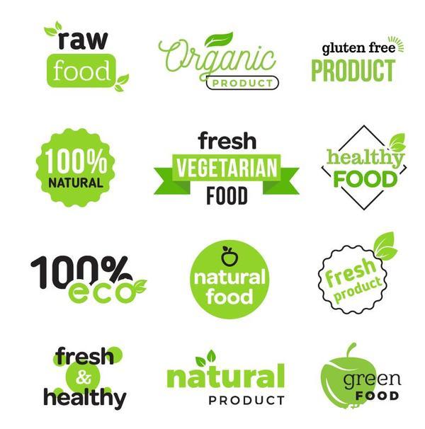 mat Marke logotyper friska