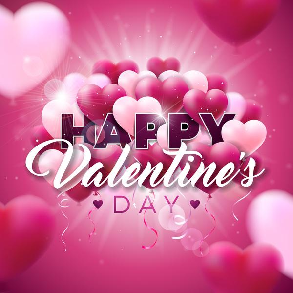 valentine suddar hjärtat ballong