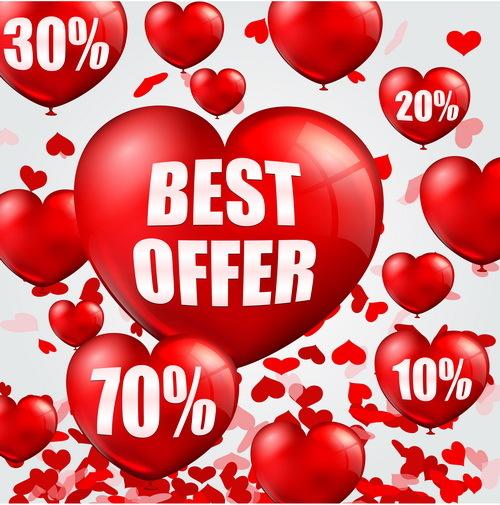hjärta försäljning ballong