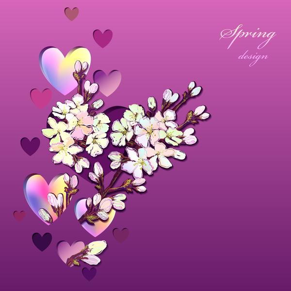 våren hjärta Blomma