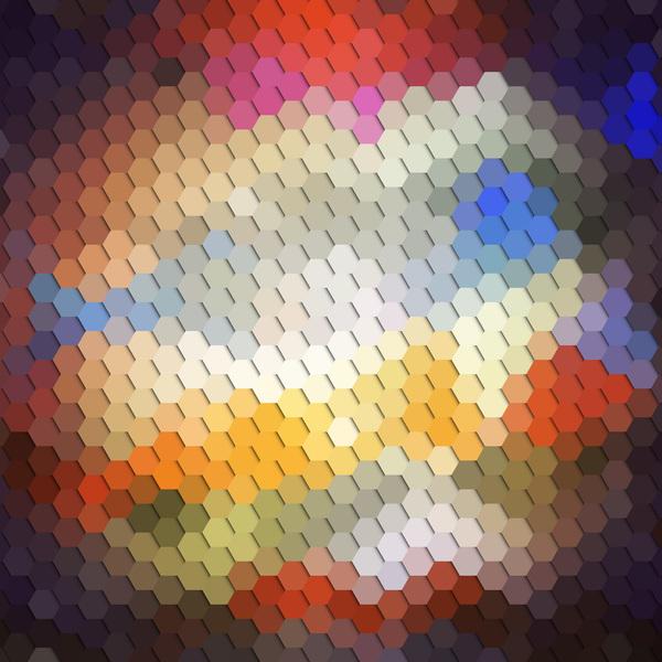 modèle hexagone flous