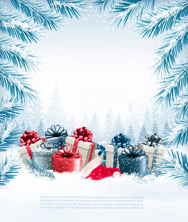 vacances Noel cadeaux Branche arbre