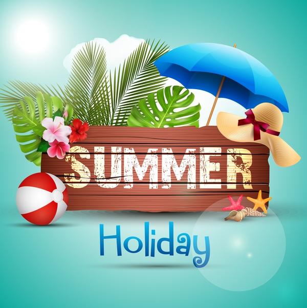 vacances signe l'été en bois