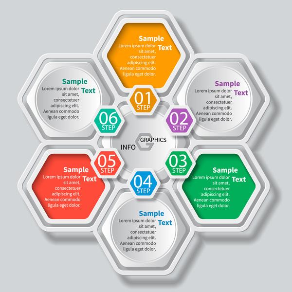 nid d'abeille infographie Entreprise