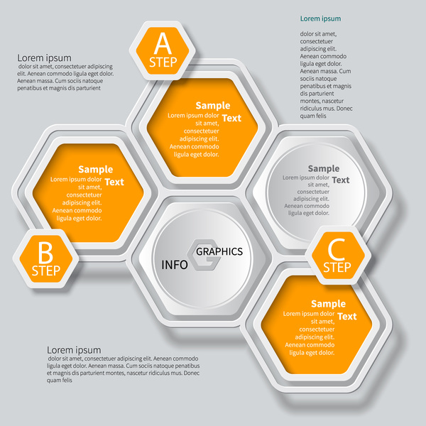 infographics honeycomb business