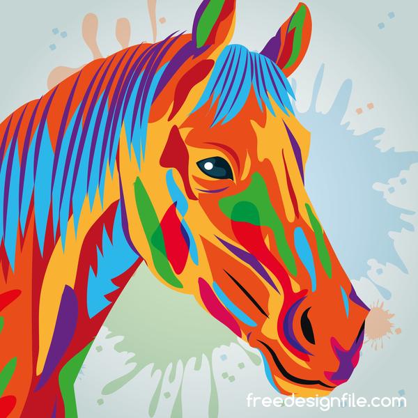 mano disegnato Cavallo acquerello